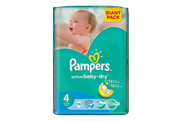 Pampers Active Baby-Dry Maxi-4 8-14 кг, 76 шт