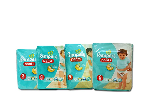 Pampers Active Pants, маленькие фасовки