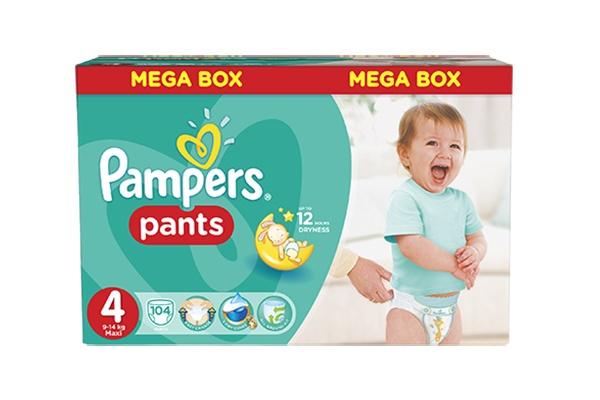Pampers Pants Maxi-4 9-14 кг, 104 шт